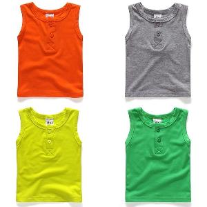 Детски летен потник - сив, син, оранжев, зелен и жълт