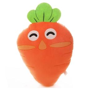 Детска плюшена възглавница - играчка морков