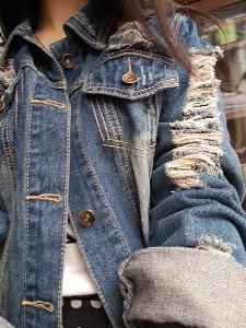 Дамско пролетно дънково ърбън яке
