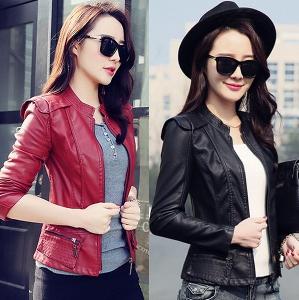 Дамски якета от еко кожа в два цвята