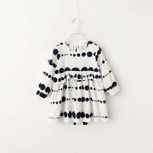 Παιδικό ανοιξιάτικο φόρεμα για κορίτσια με μακριά μανίκια και δαντέλα 88eebfc91e4