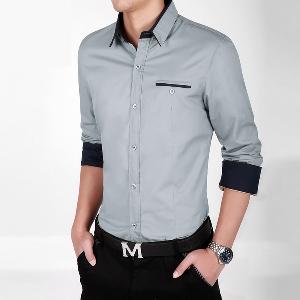 Пролетни мъжки ризи в бял,сив,бежов,син и черен цвят - дебели и тънки модели