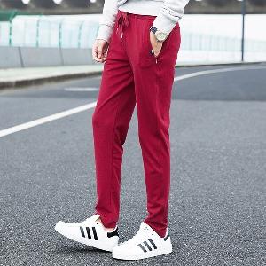 Мъжки удобни спортни панталони - сив,черен,син и червен цвят