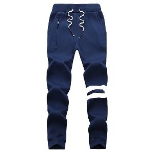 Мъжки спортен панталон подходящ за джогинг - в сив,бял,черен,син, и червен цвят
