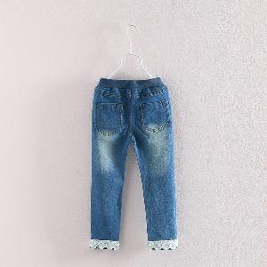 Модерни детски дънки за момичета - 2 модела