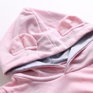 Есенно-пролетен детски спортен комплект от 2 части - в сив и розов цвят