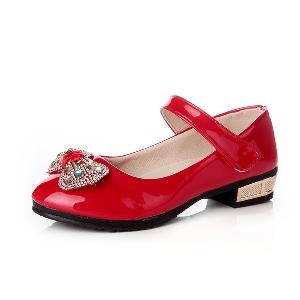 Пролетни лачени обувки за момичета
