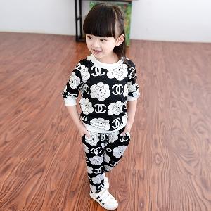 Детски комплект за момичета в черно