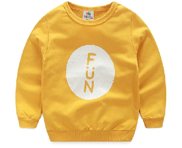 Παιδικά t-shirts για αγόρια με O-κολάρο - σε κίτρινο 4b1ac5206df