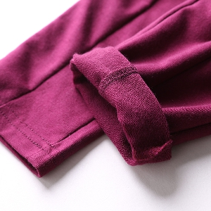 Модерни детски панталони за момичета в черен и лилав цвят
