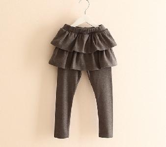 Детски панталон-пола - в розов,черен,кафяв и сив цвят