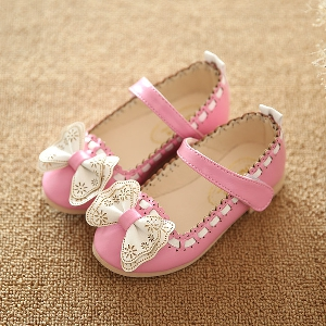 Детски елегантни обувки за момичета в три цвята
