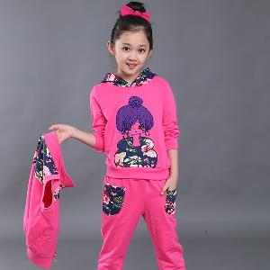 Детски спортен комплект от 3 части за момичета  - 3 модела
