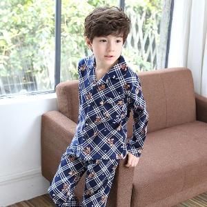 Пролетна детска пижама за момчета в син,бял и червен цвят - няколко модела