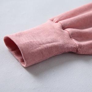 Ежедневна детска тениска с дълъг ръкав за момичета в розов цвят