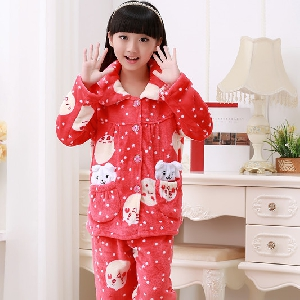 Детски зимни кашмирени пижами за момчета и момичета - 5 модела