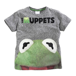 Детска тениска за момчета с щампа Кърмит