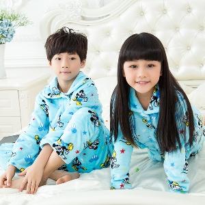 Детски есенно-зимни пижами за момчета и момичета - 17 модела