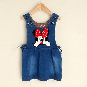 Дънкова детска рокля за момичета,няколко модела