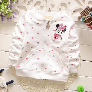 d62cf81e74b Παιδικά φούτερ και κορίτσια με το έμβλημα Mickey Mouse σε 4 χρώματα - ροζ,  λευκό
