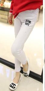 Детски еластични панталони за момичета - два модела - черен и бял