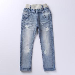 Ластични детски дънки за момичета - топ модел в няколко размера за сезон пролет, лято, есен и зима