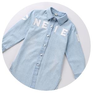 f82ba412d68 Детска дънкова риза за момичета - топ модел в няколко размера - Badu ...