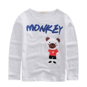 Детски тениски с дълът ръкав - Панда и Мики Маус - за момчета и момичета - сини, розови, жълти и други