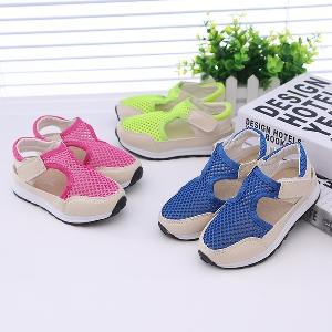 Детски летни сандали за момчета и момичета в розов,син и зелен цвят - 3 модела