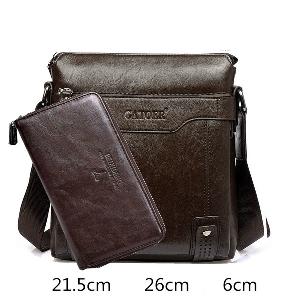 Модерни мъжки бизнес чанти с портмоне и без в син,кафяв и черен цвят - 16 модела