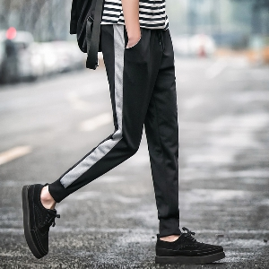 Мъжки ежедневни и спортни панталони в два цвята - черен и сив