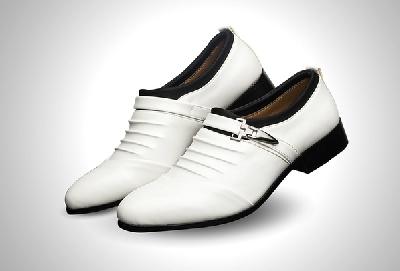 Мъжки официални обувки два цвята