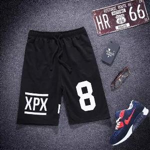 Спортни черни къси мъжки  панталони за лятото - 5 модела