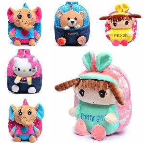 Детски раници за момичета в различни цветове и модели - слонче,маймунка,зайче,мече,Хелоу Кити и други