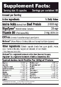 AMIX Beef Amino 198 капс. / Телешки / Аминокиселини