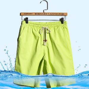 Мъжки къси панталони в син,черен,бежов,зелен и бял цвят - 6 модела