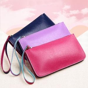 Οι γυναίκες πορτοφόλι σε μαύρο, ροζ, φούξια, κίτρινο, μπλε και μοβ - 6 μοντέλα