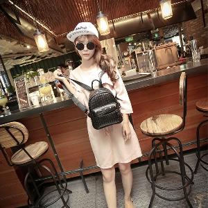Μίνι γυναικείο σακίδιο - λευκό, γκρι. μαύρο, ροζ και καφέ