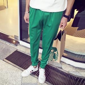Мъжки дълги панталони - ежедневни в няколко цвята - бели, червени, зелени, сиви и сини