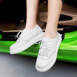 Дамски ежедневни ниски обувки в ретро стил - бежови , розови, сини и бели