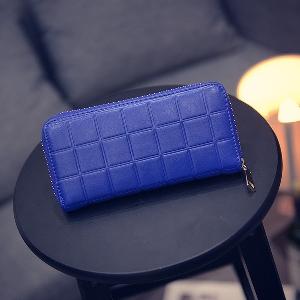 Γυναικείο πορτοφόλι σε μπλε, κόκκινο και μαύρο - 3 μοντέλα