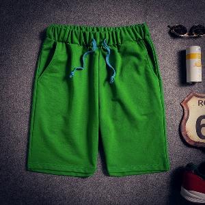 Мъжки къси панталони в бял,сив,черен,червен,жълт,син и зелен цвят