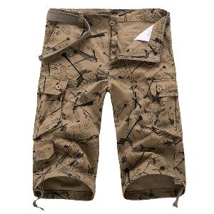 Летни мъжки къси панталони изработени от памук - 17 модела