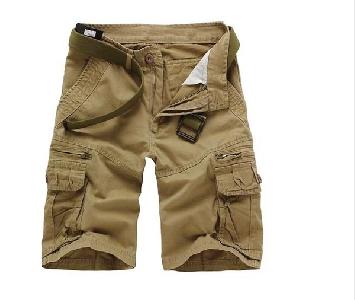 Широки мъжки къси карго панталони - 5 модела