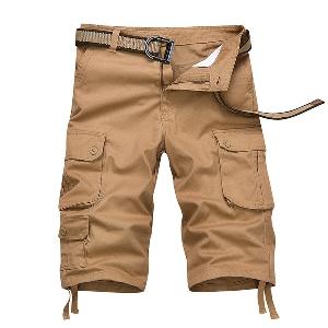 Мъжки къси панталони цветни и с камуфлаж - 10 модела