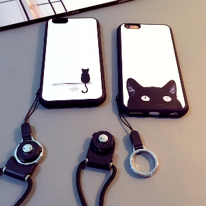 Протектор за телефон със силиконова каишка подходящ за iPhone6/6S, iPhone6/6S plus, iPhone5/5S