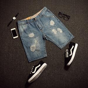 Летни къси дънкови панталони за мъже