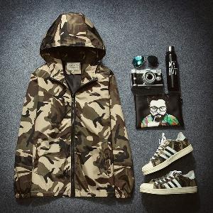 Мъжки и дамски камуфлажни якета с качулка  - 11 модела