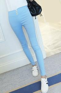 Дамски панталони с висока талия -7 цвята.
