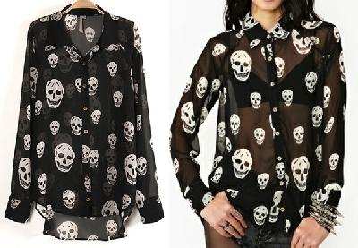Риза с черепи XX